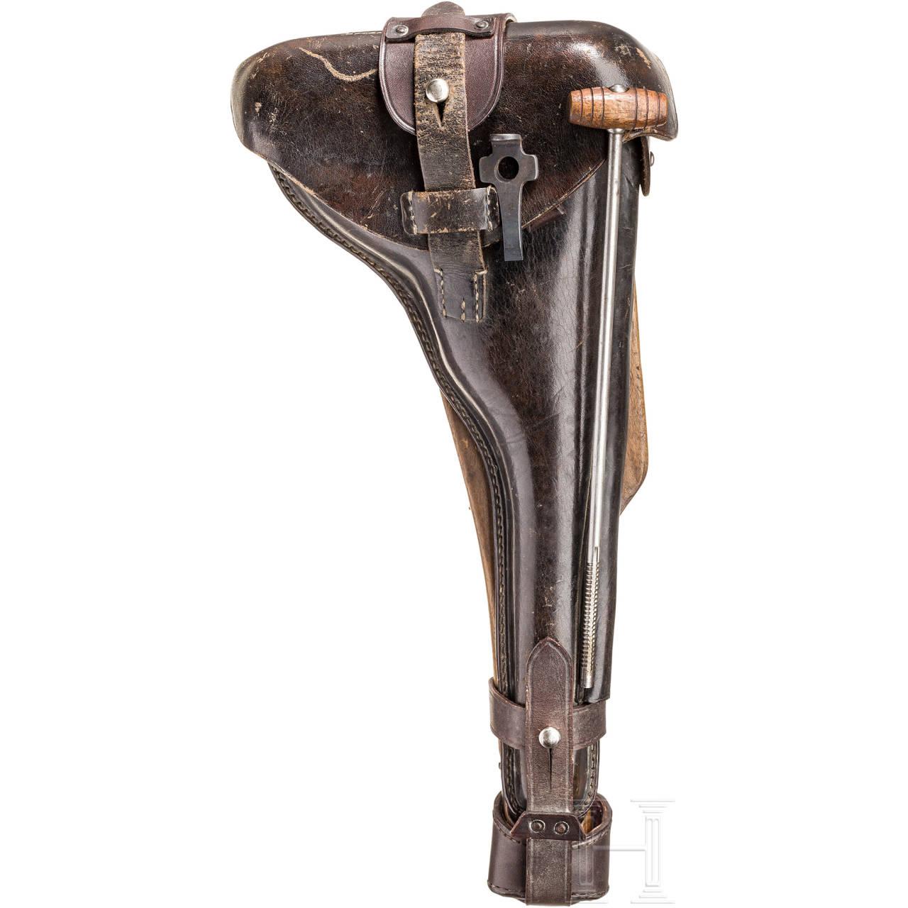 Anschlagbrett mit Tasche zur Langen Pistole 08