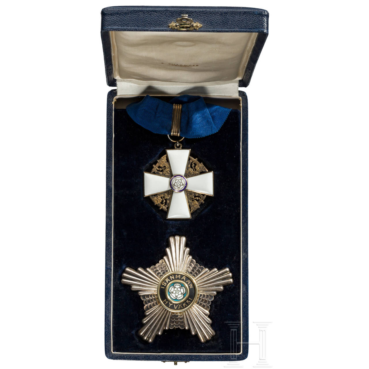 Orden der Weißen Rose, Kommandeursset 1. Klasse im Etui, 2. Modell, ab1936