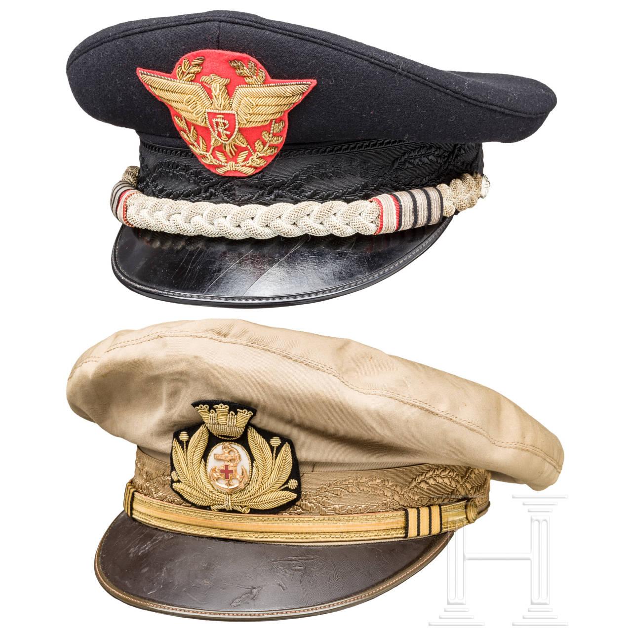 Tropenschirmmütze für Admirale bzw. für Kommandanten der Carabinieri, 1980er Jahre