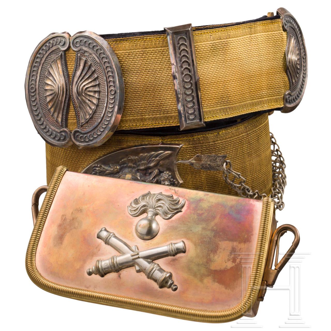 Kartuschkasten und Bandelier für Offiziere der berittenen Artillerie, um 1930