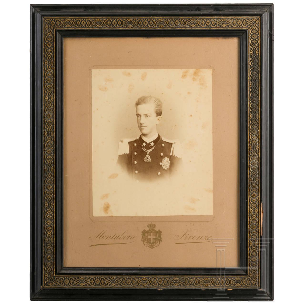 Portrait von Prinz Viktor Emanuel, um 1885