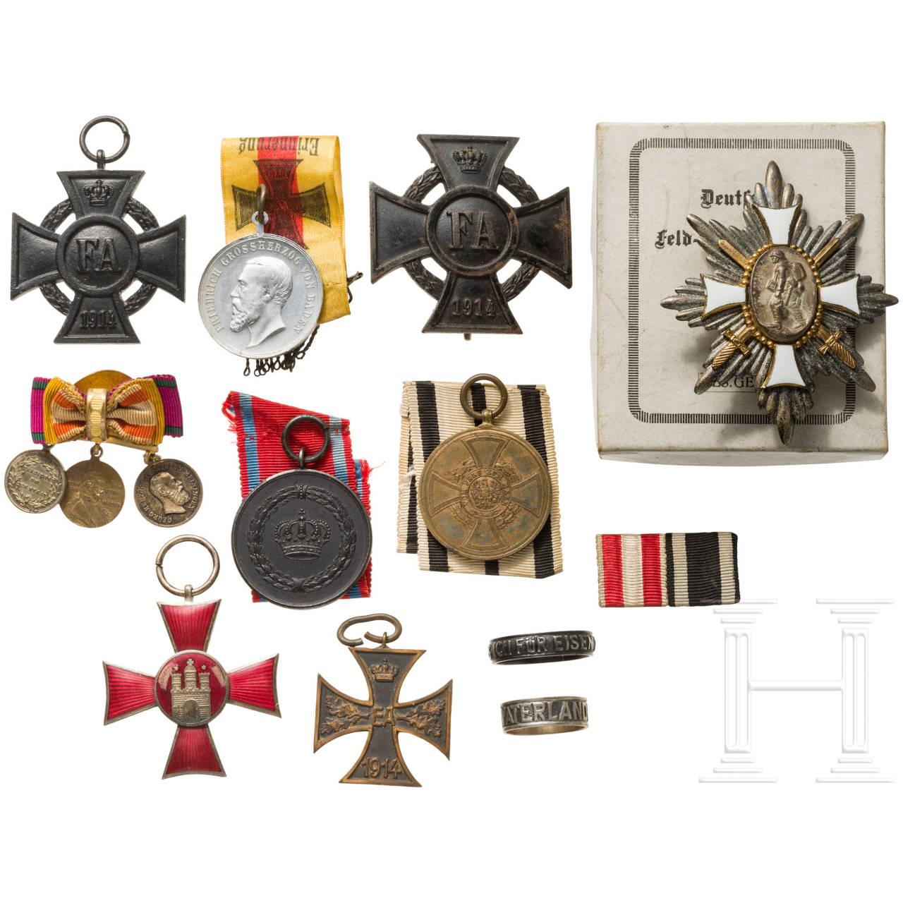 Gruppe Auszeichnungen deutscher Länder, deutsches Kaiserreich