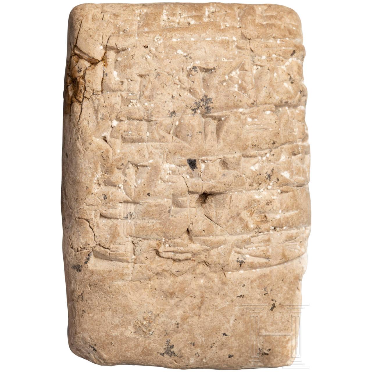 Keilschrifttäfelchen, Vorderer Orient, 2. - 1. Jtsd. v. Chr.