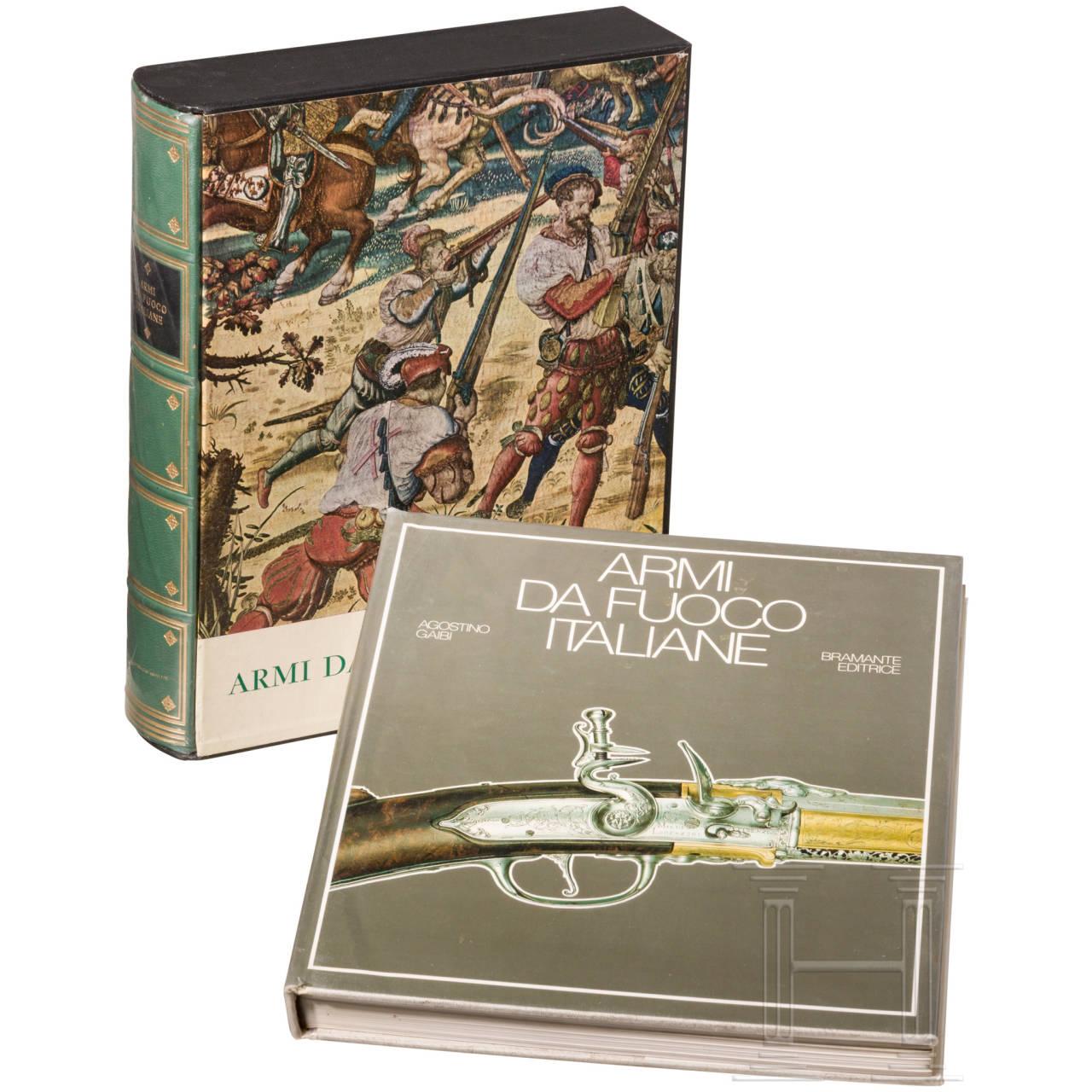 """Gaibi Agostino, """"Le Armi da Fuoco Italiane"""", zwei Bücher"""