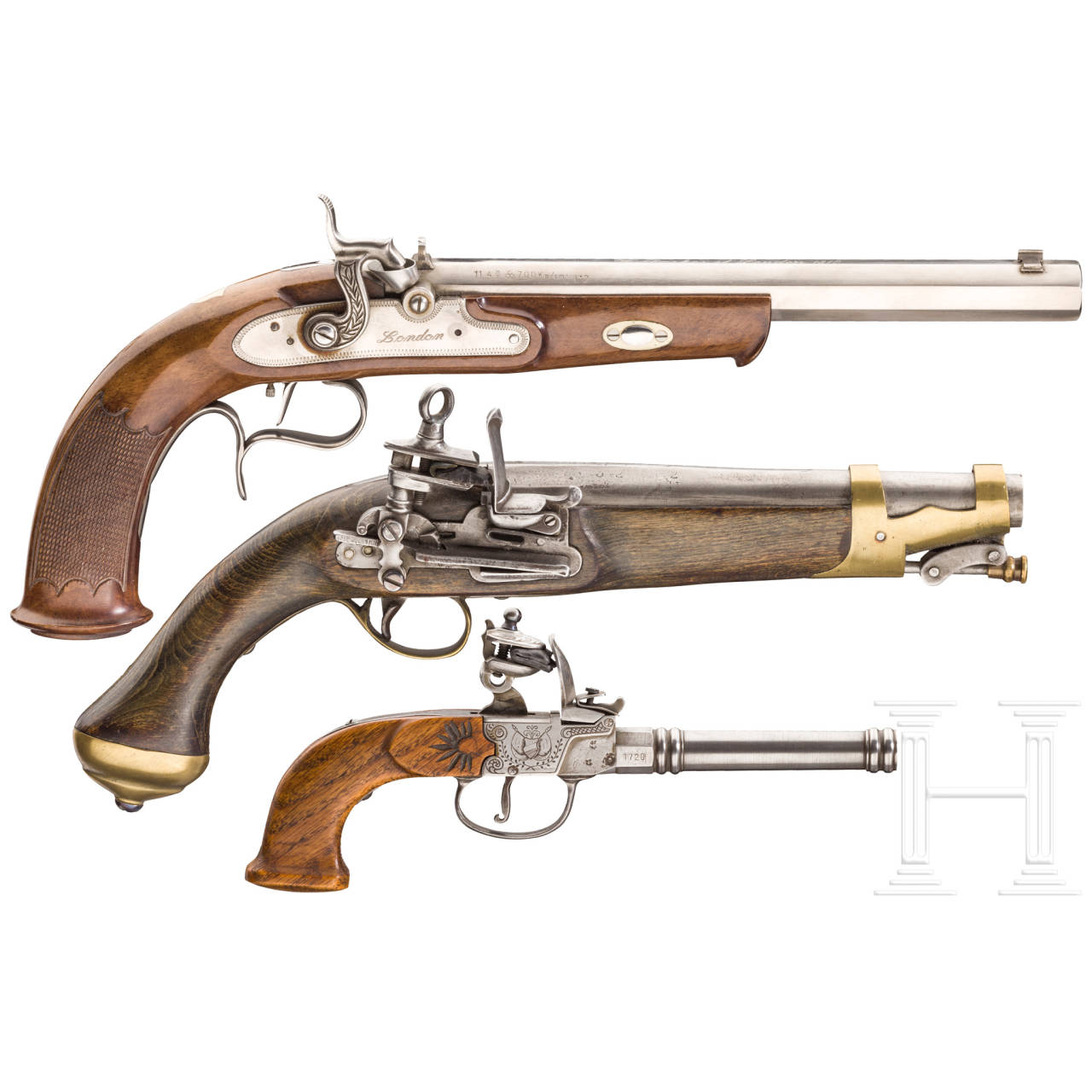 Drei Pistolenrepliken