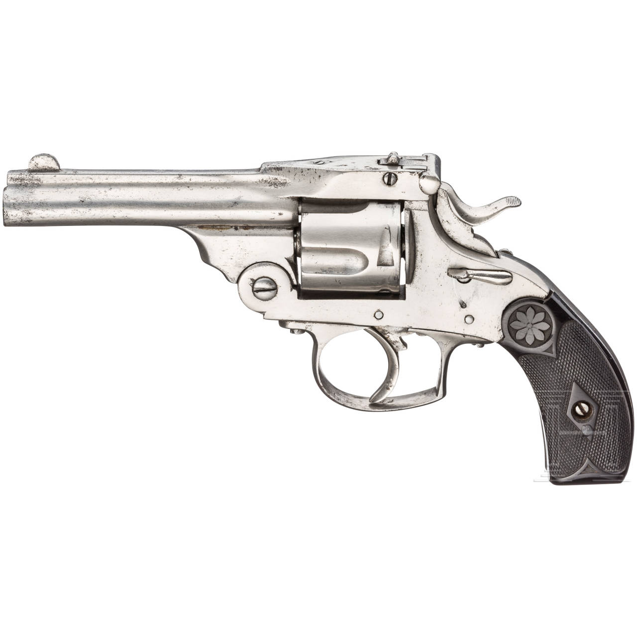 Fünfschüssiger Revolver, vernickelt, Belgien
