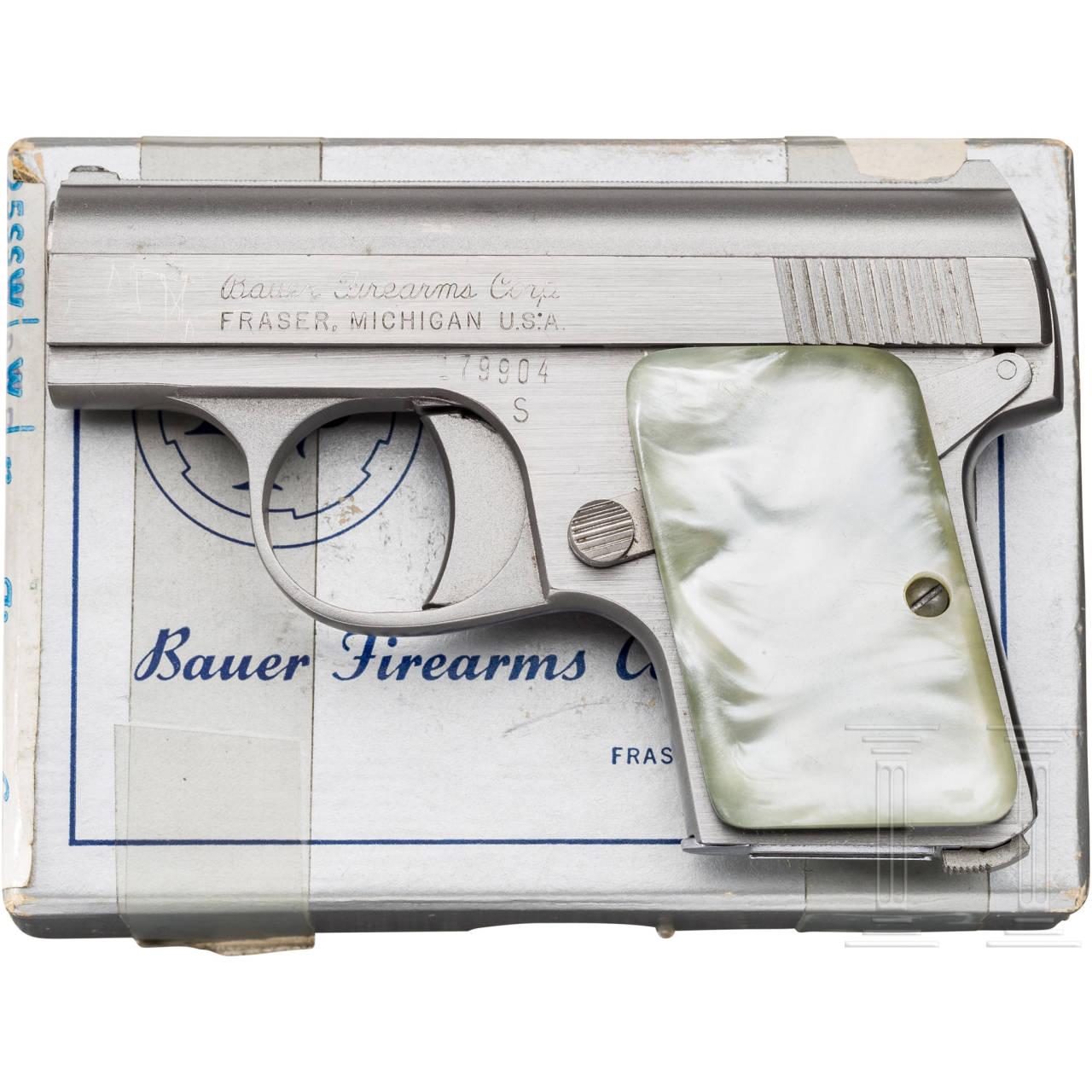 Bauer Mod. 25 SSW Pocket Pistol, Stainless, im Karton