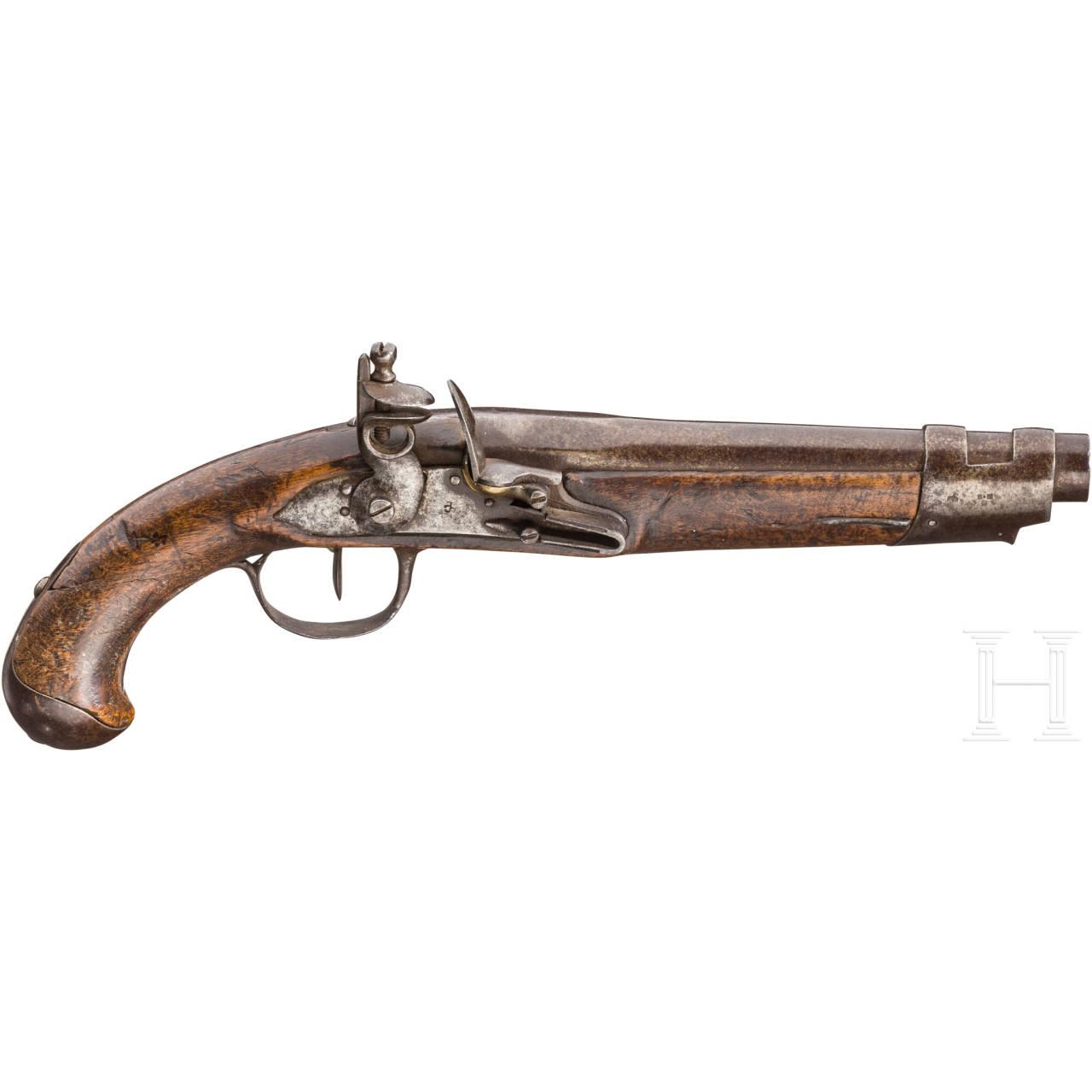 Militärische Steinschlosspistole, um 1800