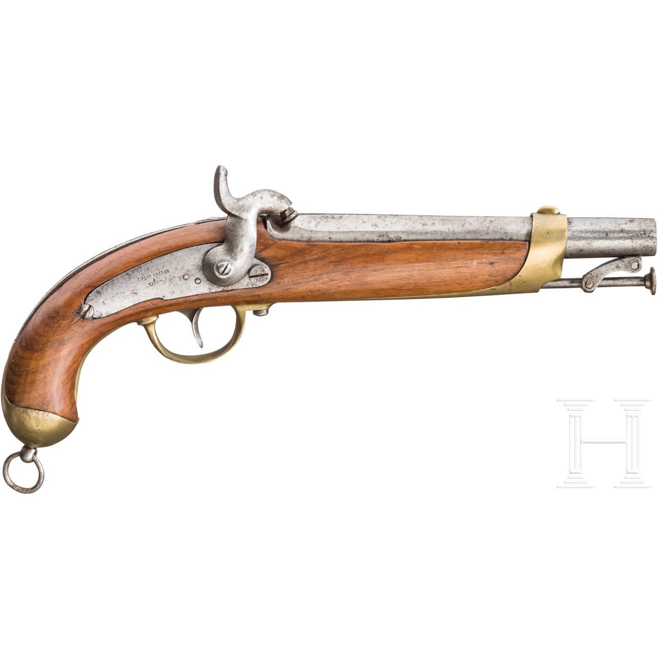 Militärische Perkussionspistole, Pirlot Freres, Lüttich, um 1860