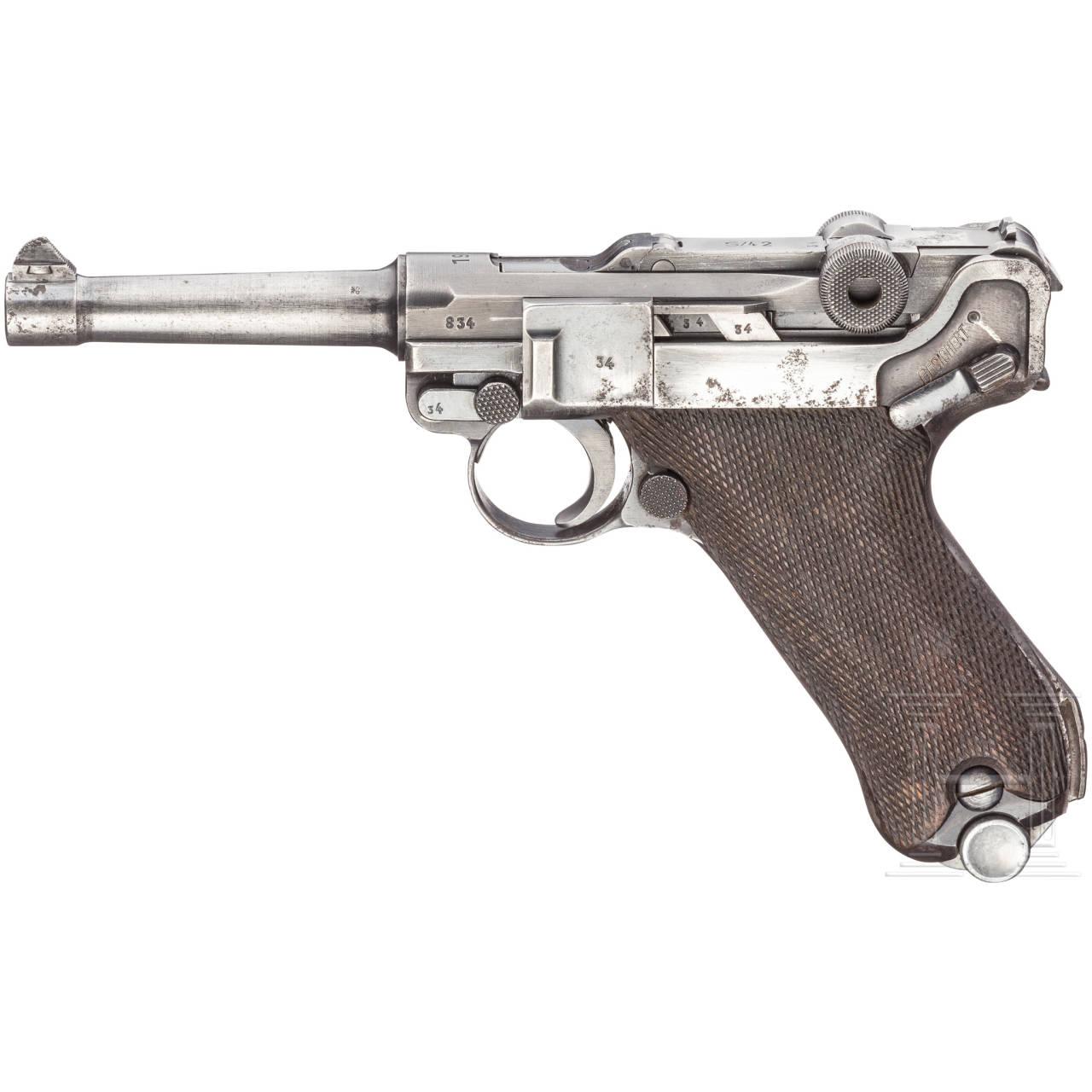 "Pistole 08, Mauser, Code ""1938 - S/42"""