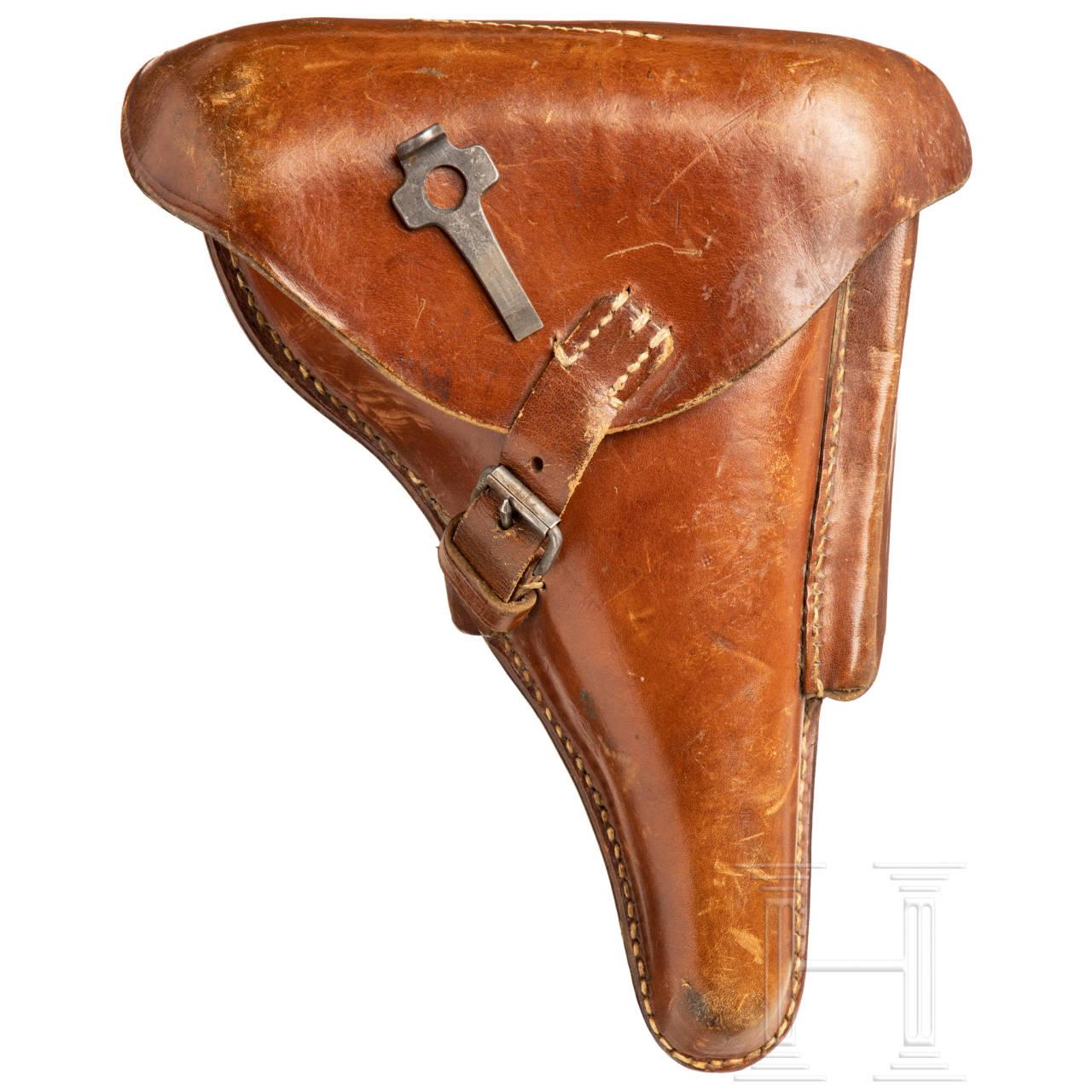 Koffertasche für P 08, Kaiserreich, mit Schlüssel