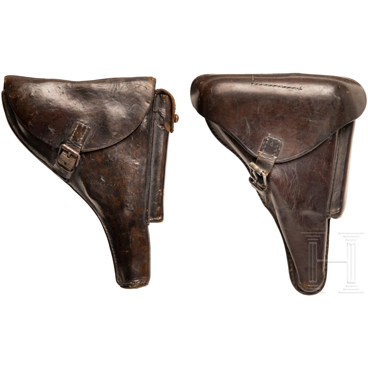 Zwei Koffertaschen für P 08, Kaiserreich
