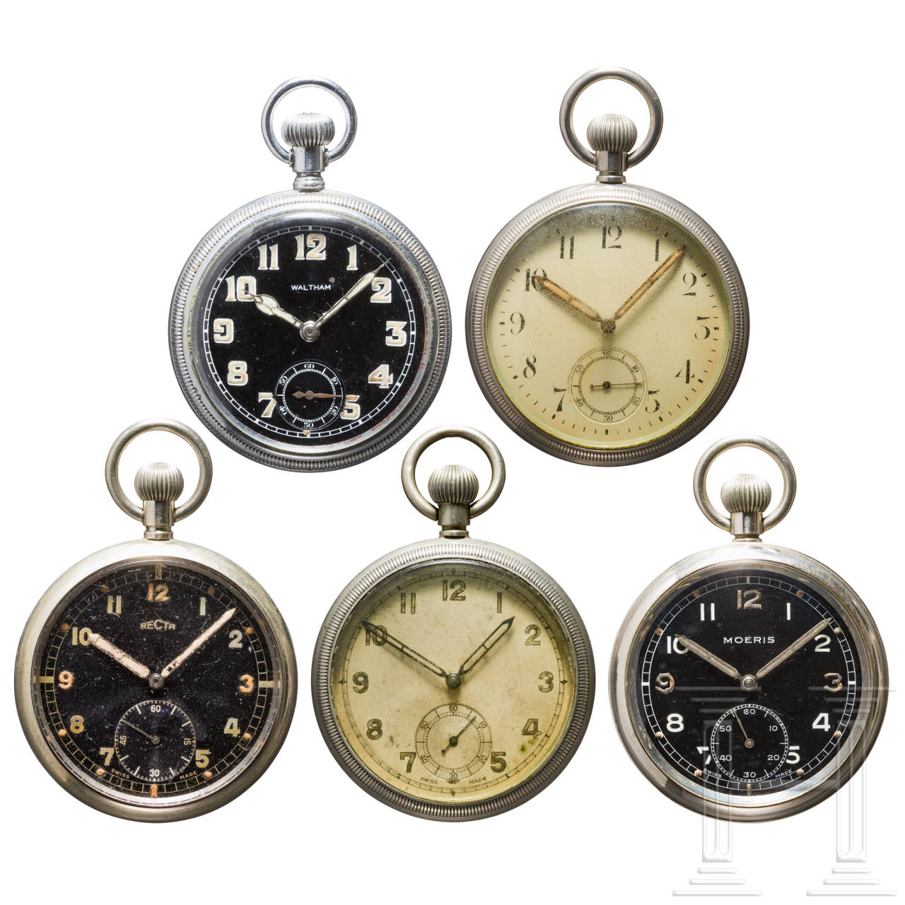 Five service watches of the British Army