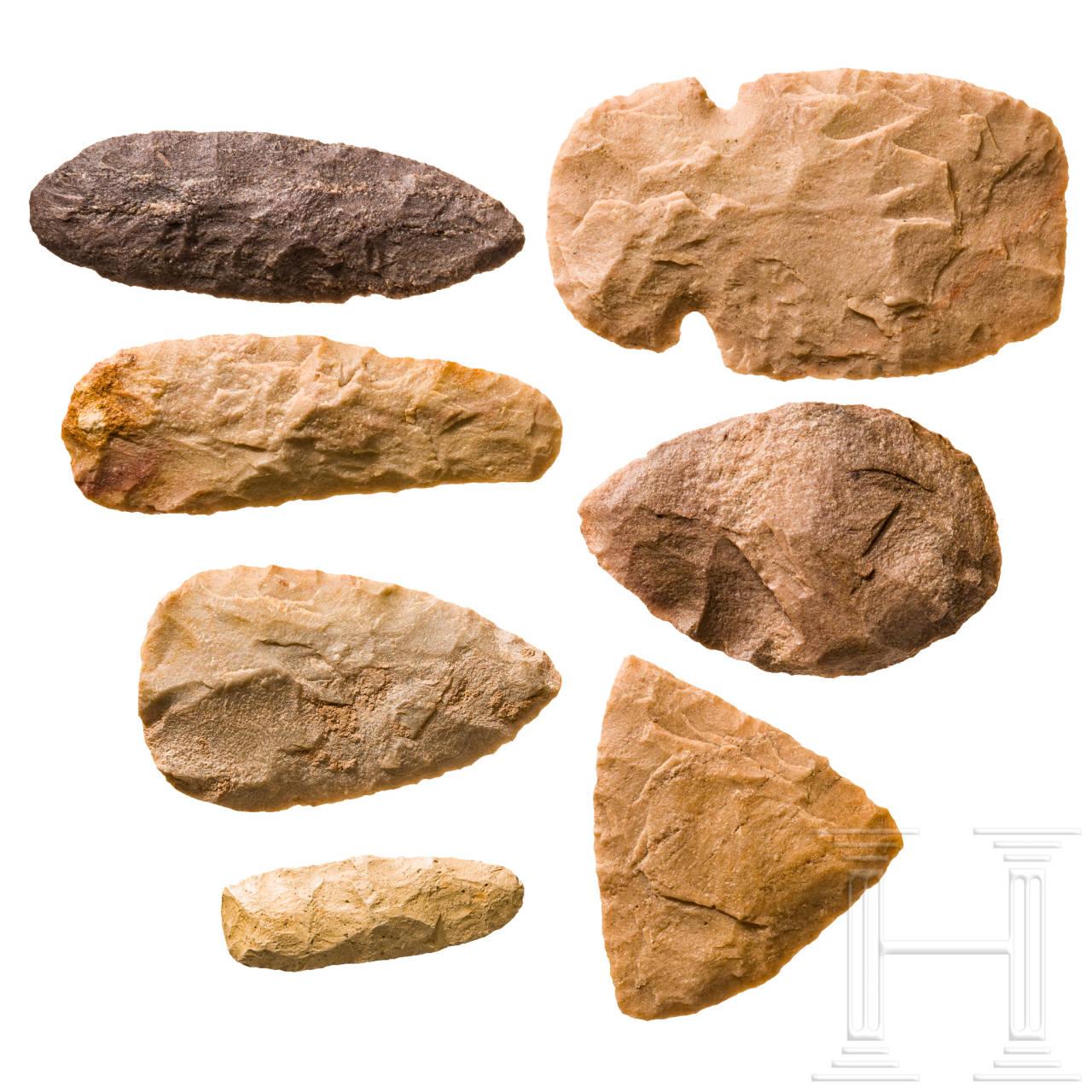 Sieben Steinwerkzeuge, Sahara, neolithisch