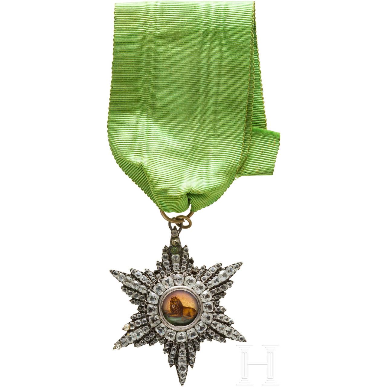 Orden des Löwen und der Sonne, Ordensdekoration der 3. Klasse, um 1900