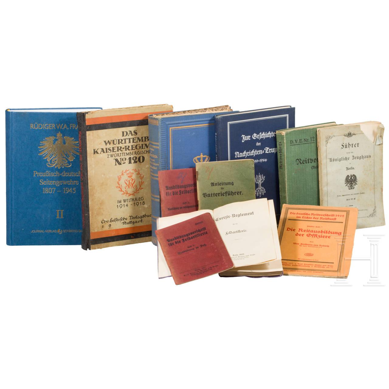 Gruppe Dienstvorschriften, Regimentsgeschichten, Fachliteratur