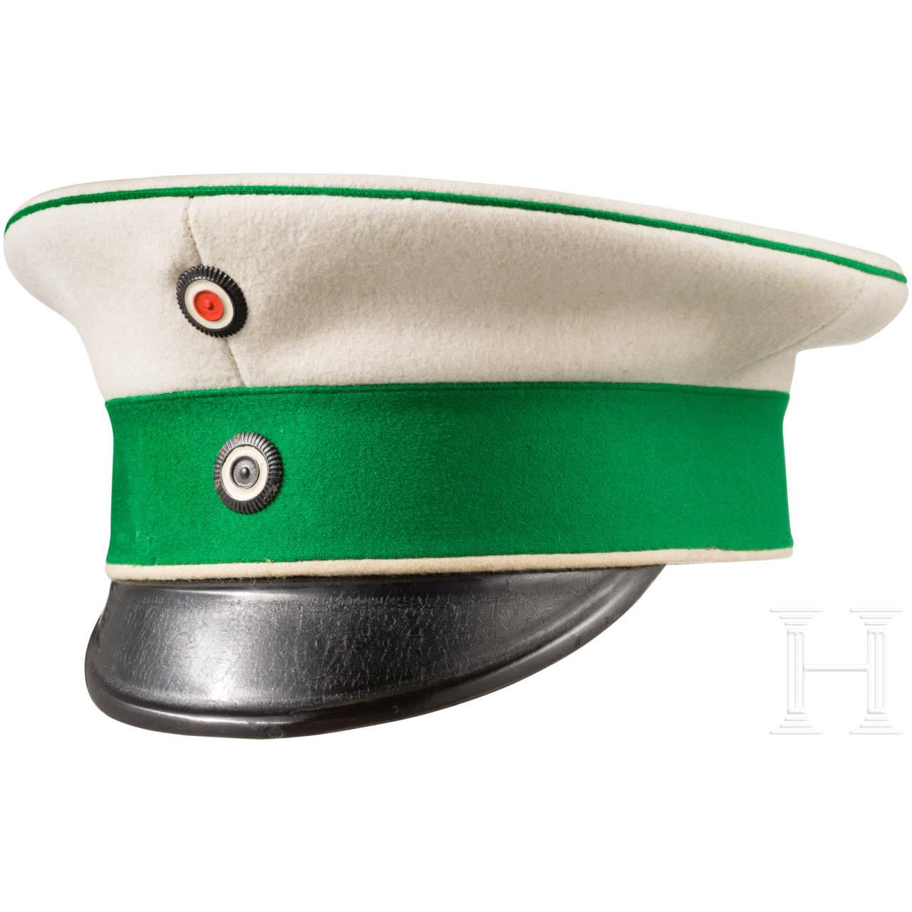 """Schirmmütze für Einjährig-Freiwillige im Kürassier-Regiment """"Graf Gessler"""" (Rheinisches) Nr. 8"""