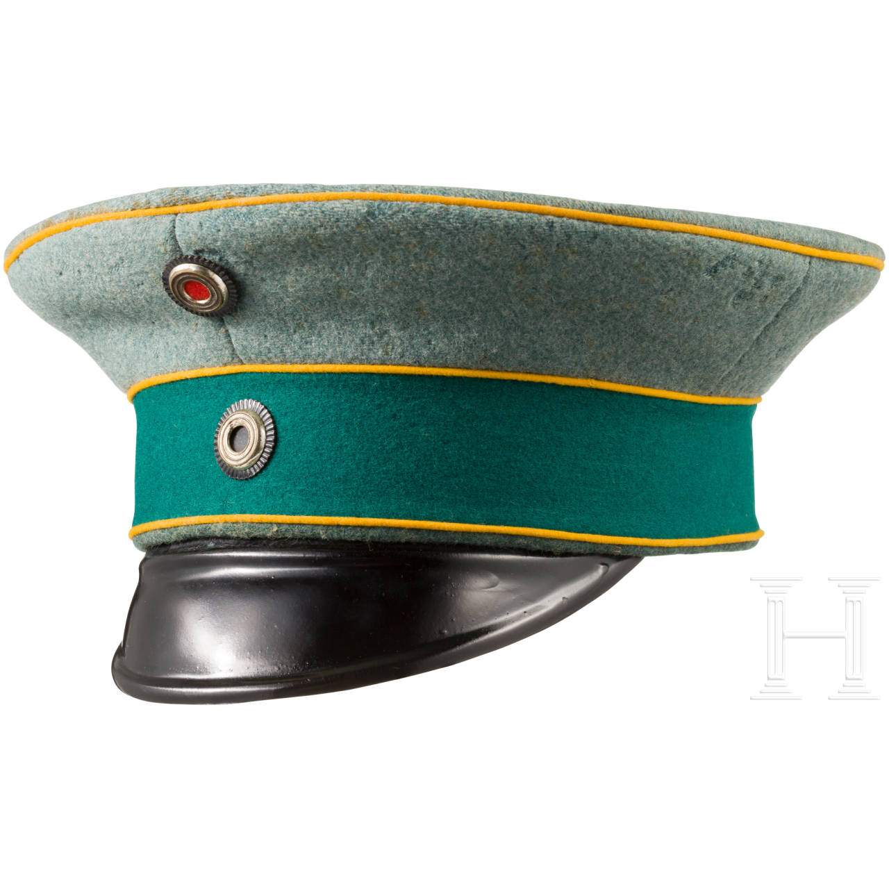 Visor cap for officers of the Prussian Mounted Rifles Regiments