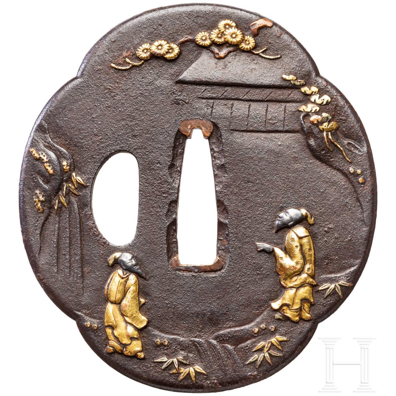 Mokkogata Tsuba, Japan, um 1760