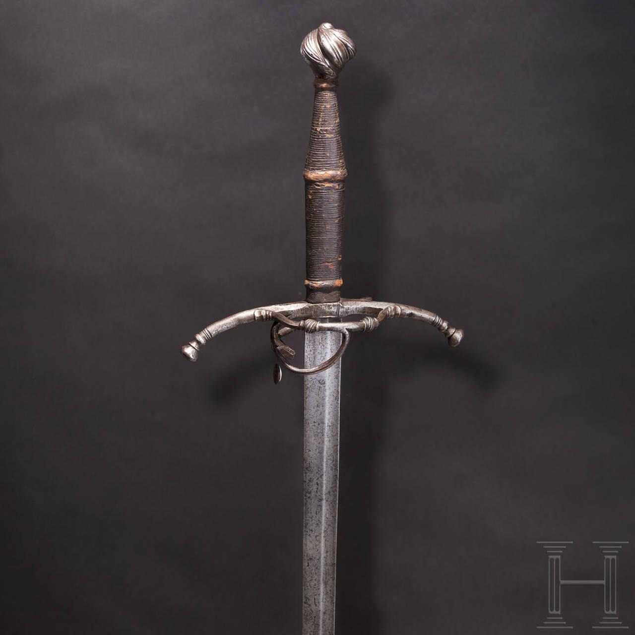 Maximilianisches Schwert zu anderthalb Hand, süddeutsch, um 1520