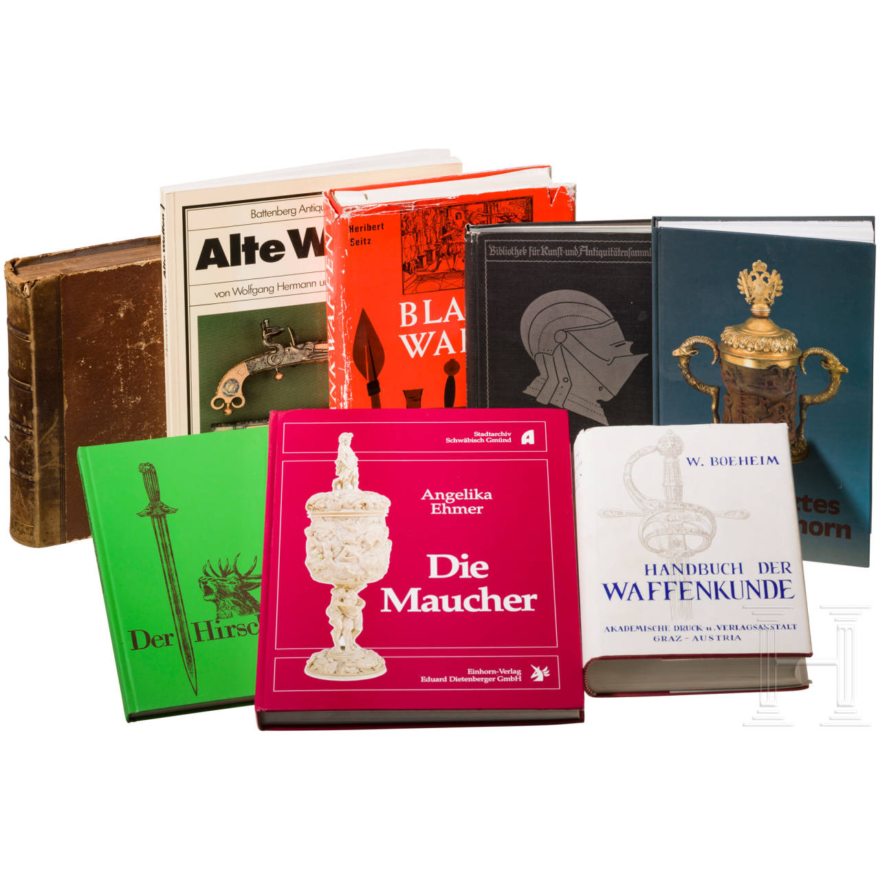 Acht Bücher zum Thema Alte Waffen und Kunsthandwerk