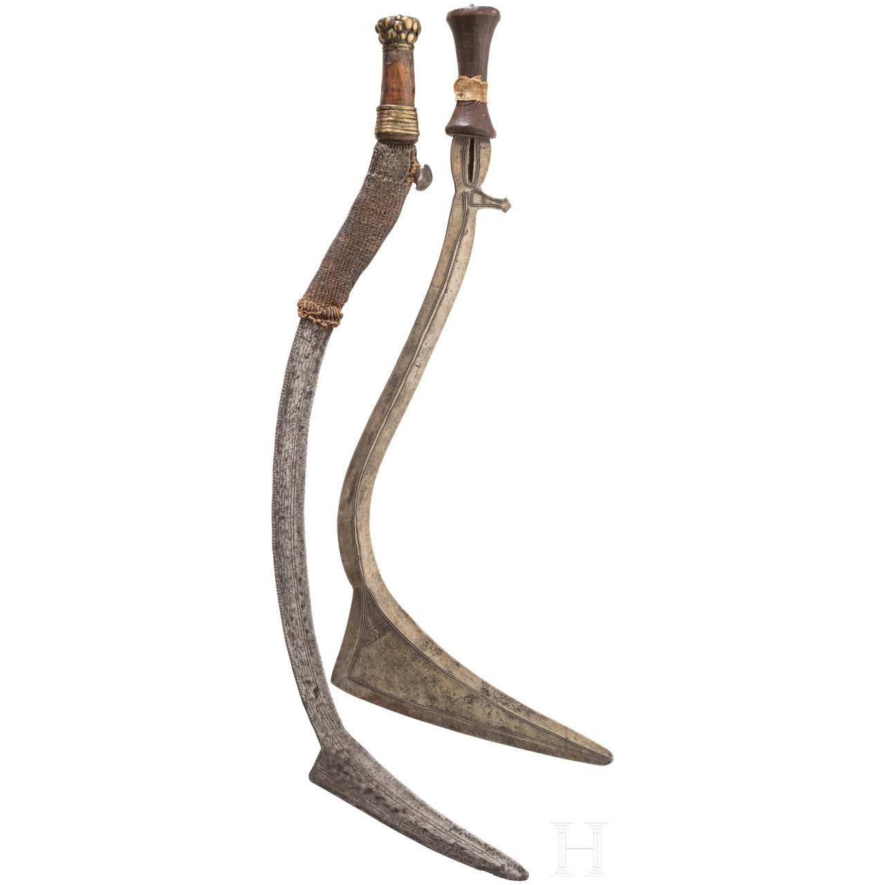 Zwei Sichelmesser, Zentralafrika