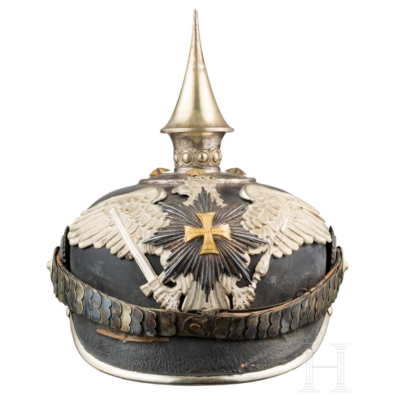 A helmet for officers of the Garde-Landwehr, ca. 1900