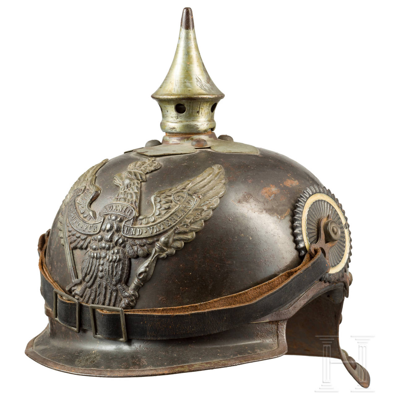 A m 1905 helmet for troopers of Jäger zu Pferde