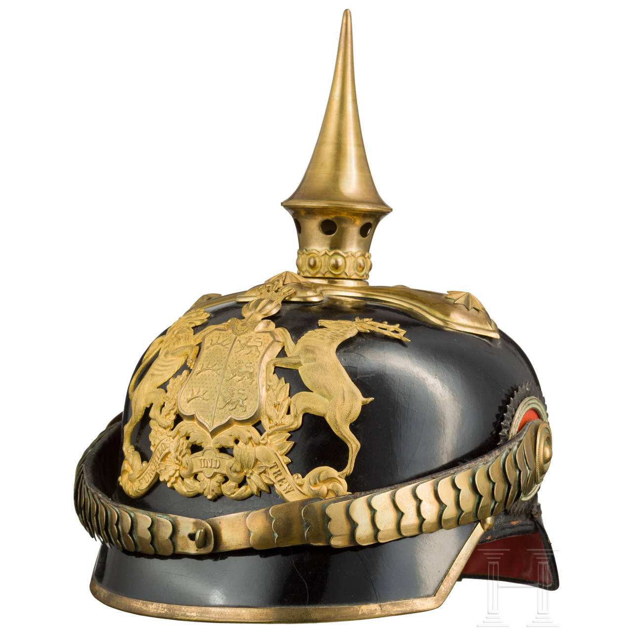 A helmet for cavalry officers, worn since 1897