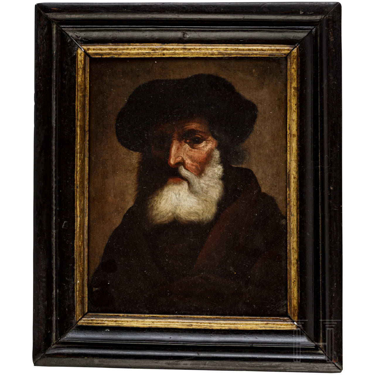 Portrait eines alten Mannes, deutsch, 1. Hälfte 18. Jhdt.