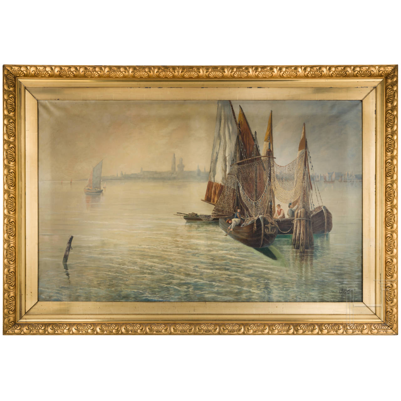 Graf von der Goltz - mediterrane Hafenszene, datiert 1906
