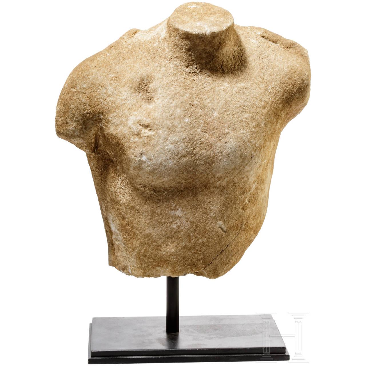 Marmortorso des Dionysos, Griechenland, frühes 5. Jhdt. v. Chr.