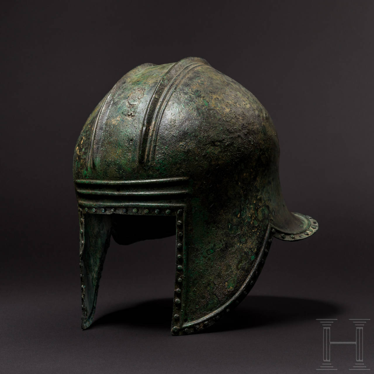 Illyrischer Helm, griechisch, 2. Hälfte 7. - 1. Hälfte 6. Jhdt. v. Chr.