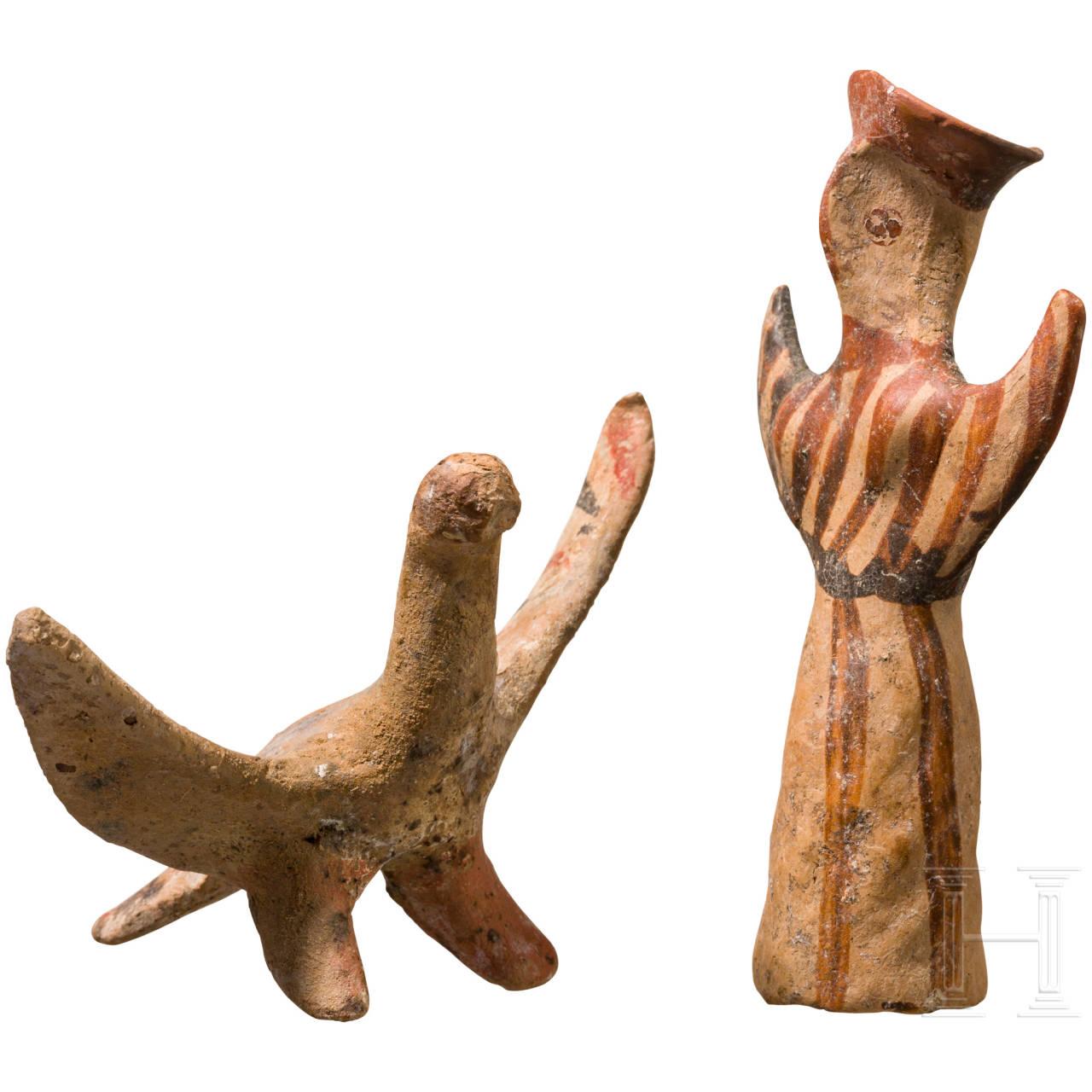 Mykenisches Psi-Idol und Adler, 13. Jhdt. v. Chr.