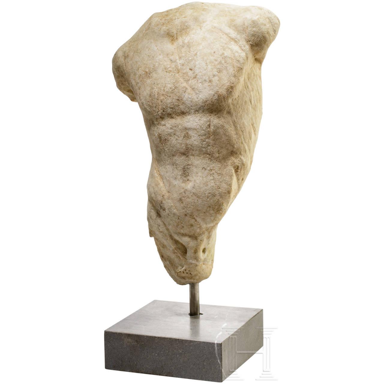 Marmortorso eines Jünglings, römisch, 1. Jhdt.
