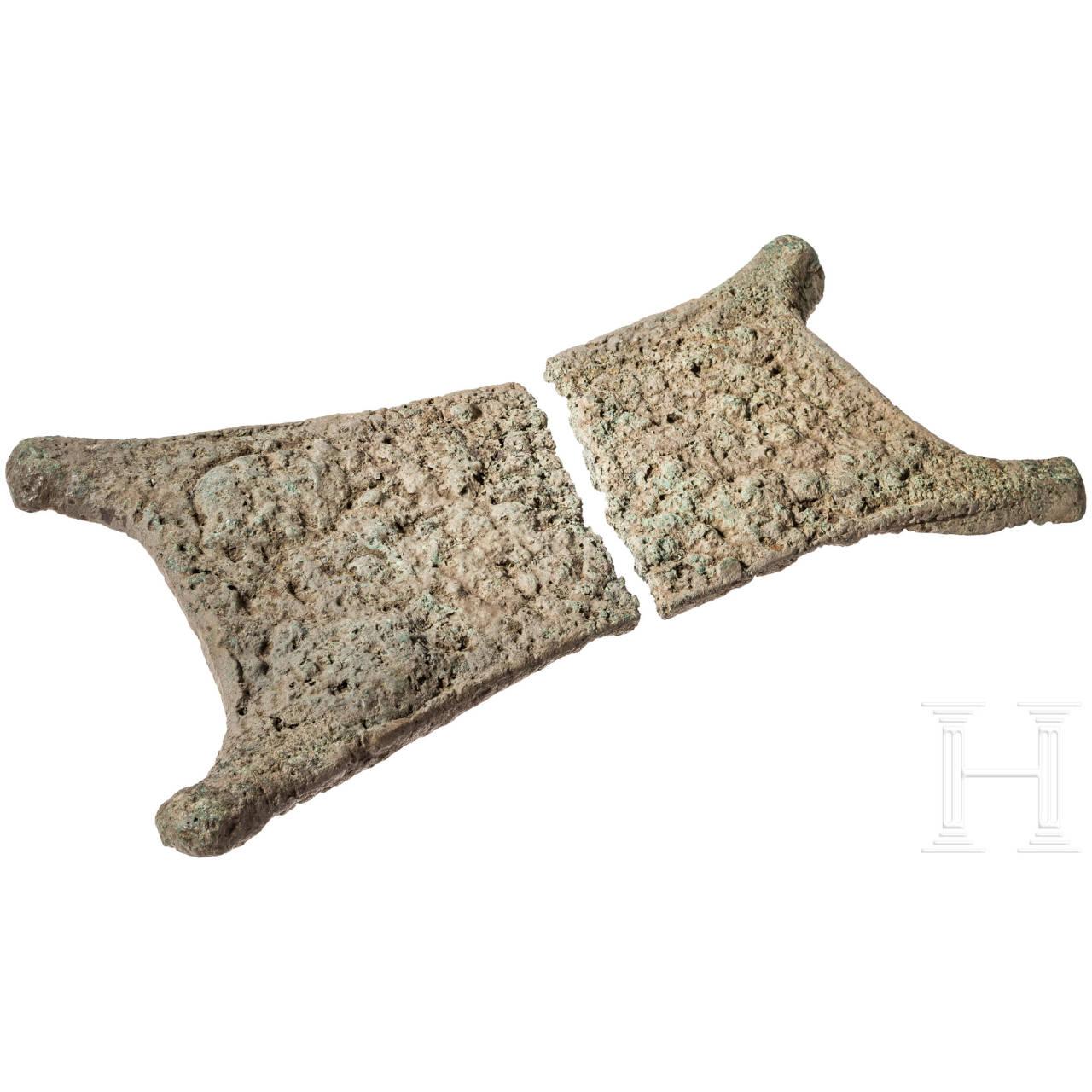 Ochsenhautbarren, Kupfer, ostmediterrane Spätbronzezeit, 16./15. - 11./10. Jhdt. v. Chr.