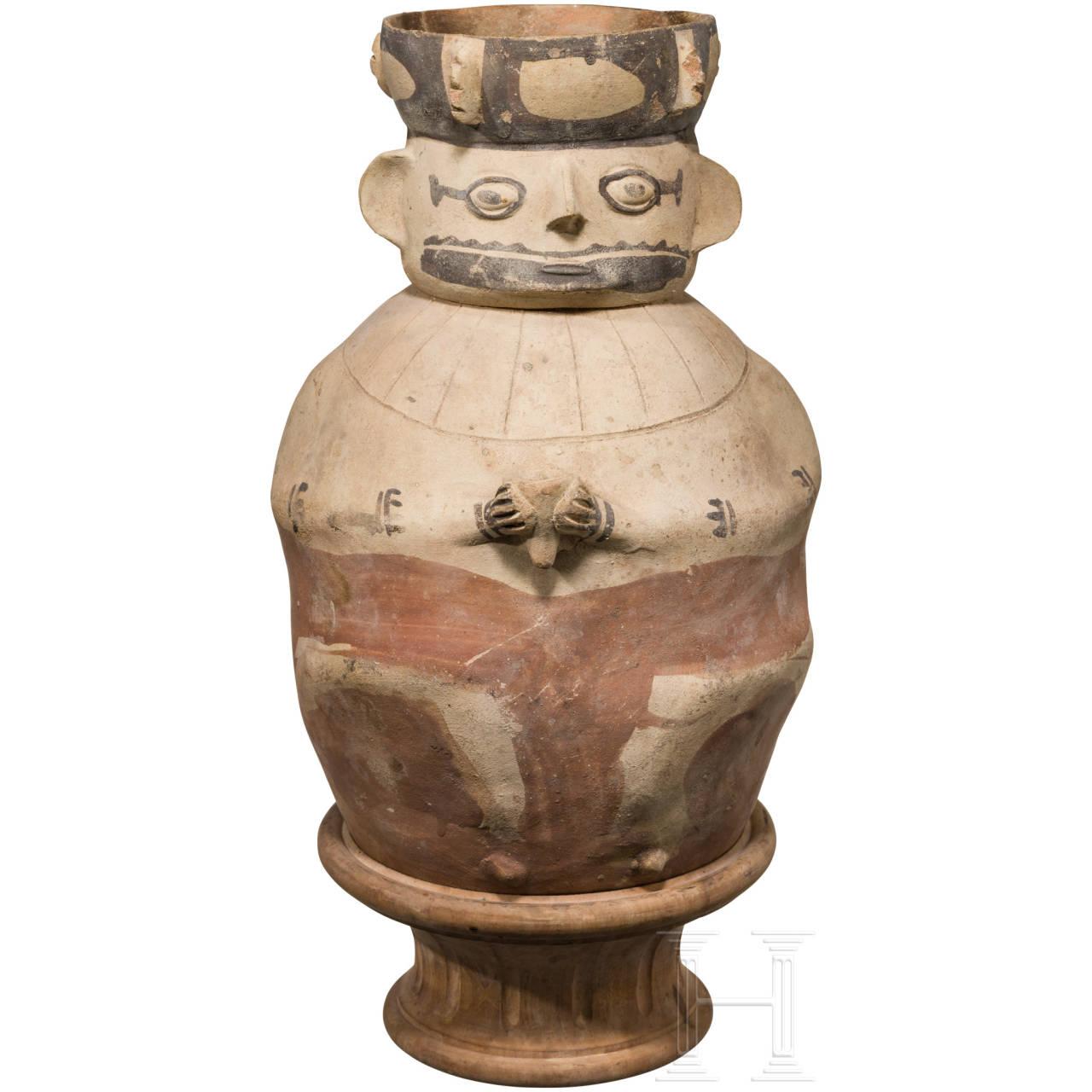Anthropomorphes Urnengefäß, Chancay, Peru, 11. - 14. Jhdt.