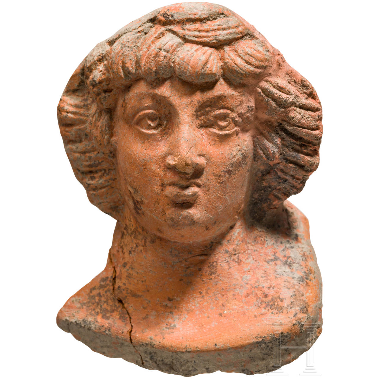 Feinmodellierte Terrakottabüste, römisch, 1. - 3. Jhdt.