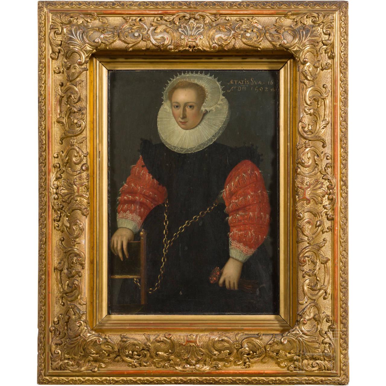 Frans II. Pourbus - Portrait einer jungen Dame, datiert 1592