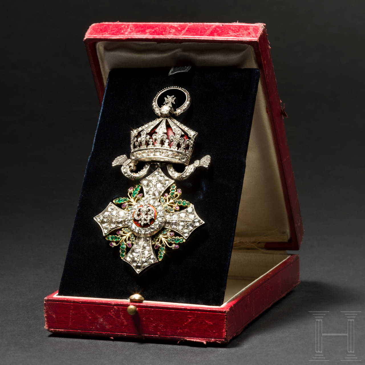 A Bulgarian civilian order of merit, a badge of the Grand Cross with diamonds