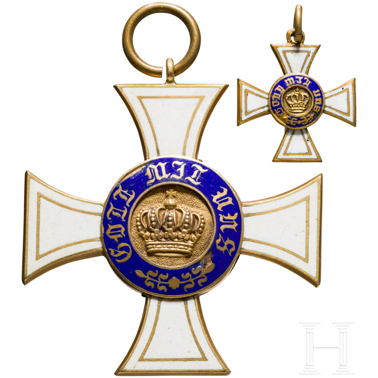 Prussian Crown Order 3rd class with miniature