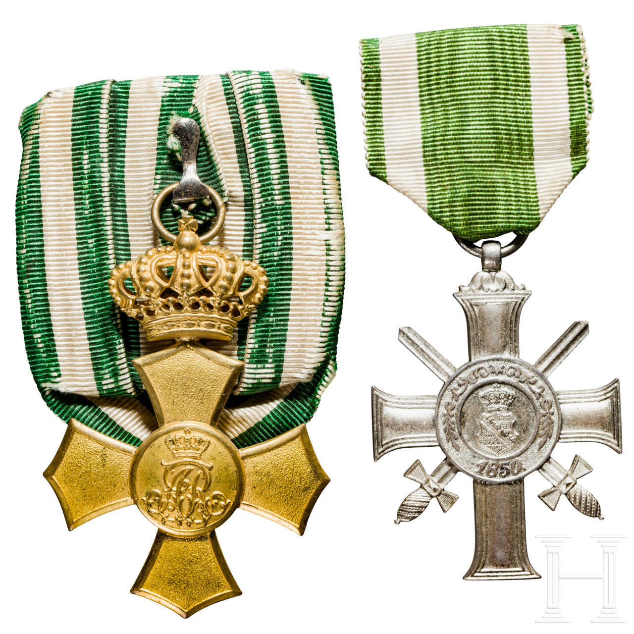 Albrecht Cross with swords and Honour Cross with crown