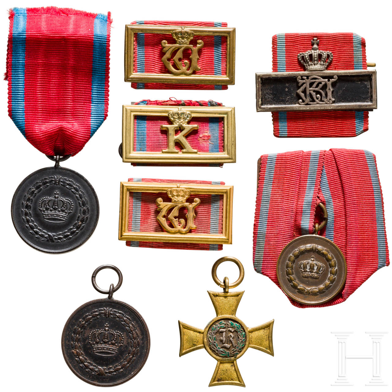 Group of service awards