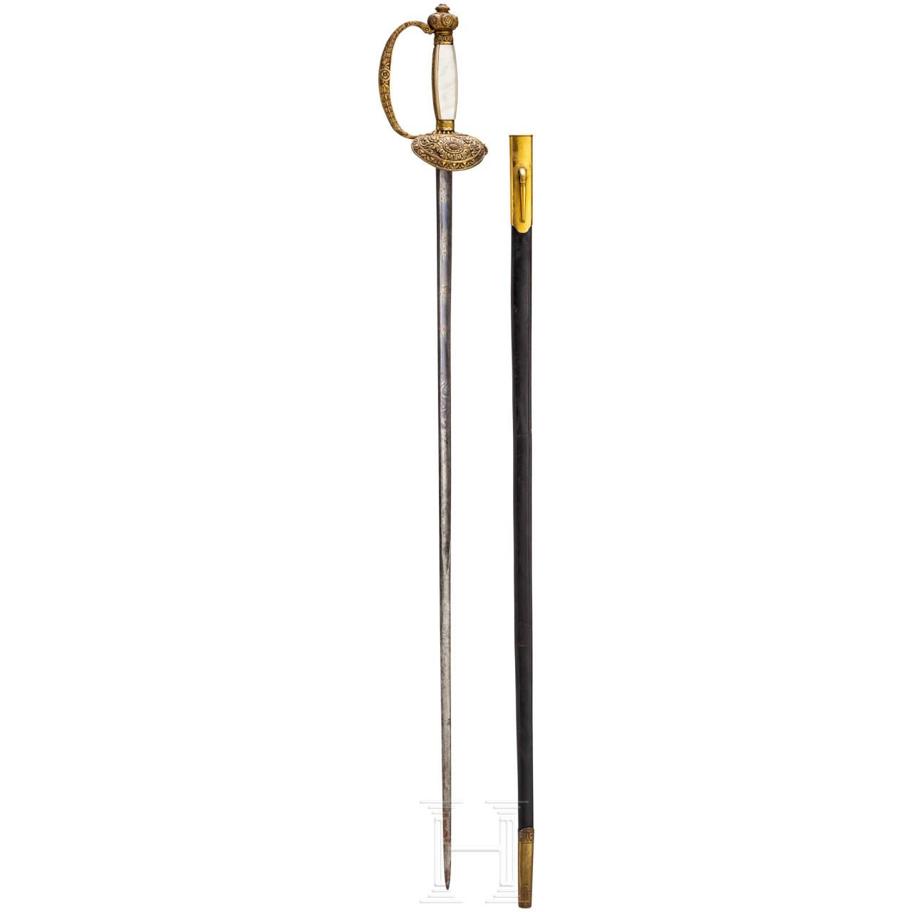 A sword fo public officials, Denmark, ca. 1860