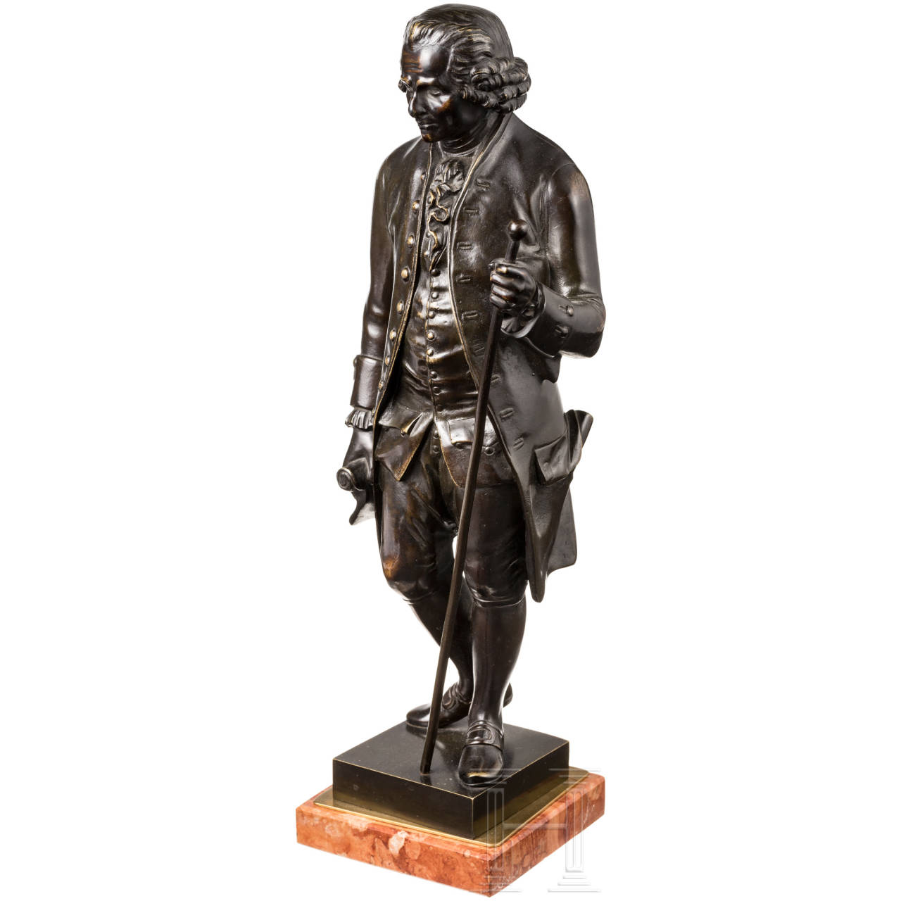 Bronze figure in the style of the 18th century (Voltaire?)