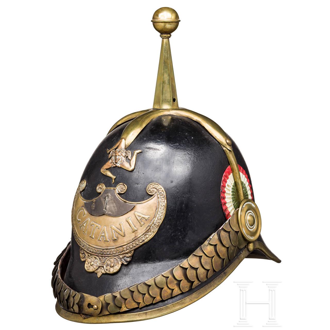 "Helmet for members of the ""Guardia Civica Catania"", ca. 1848"