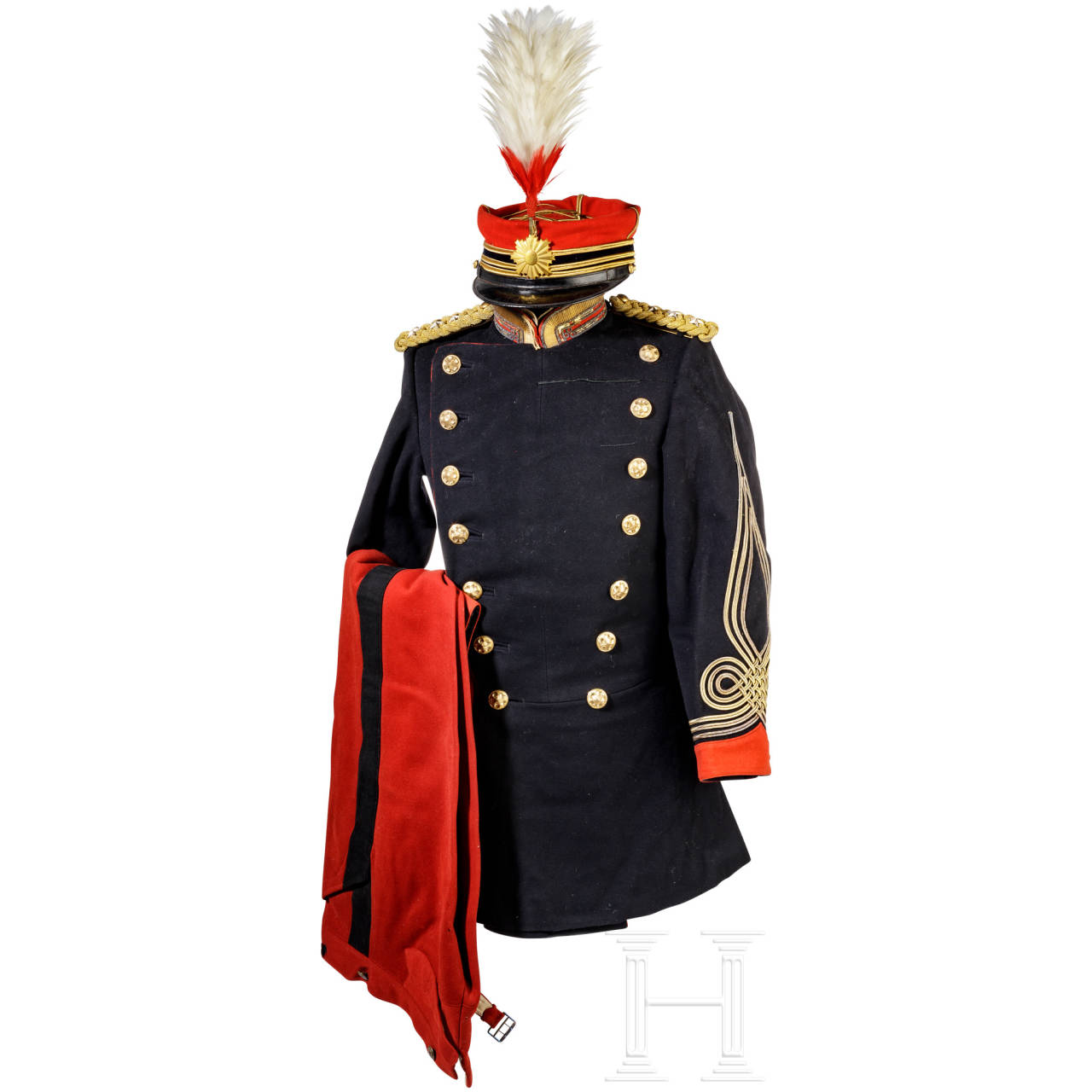 Uniform ensemble for officers of the military police (Kempeitai), Meiji period