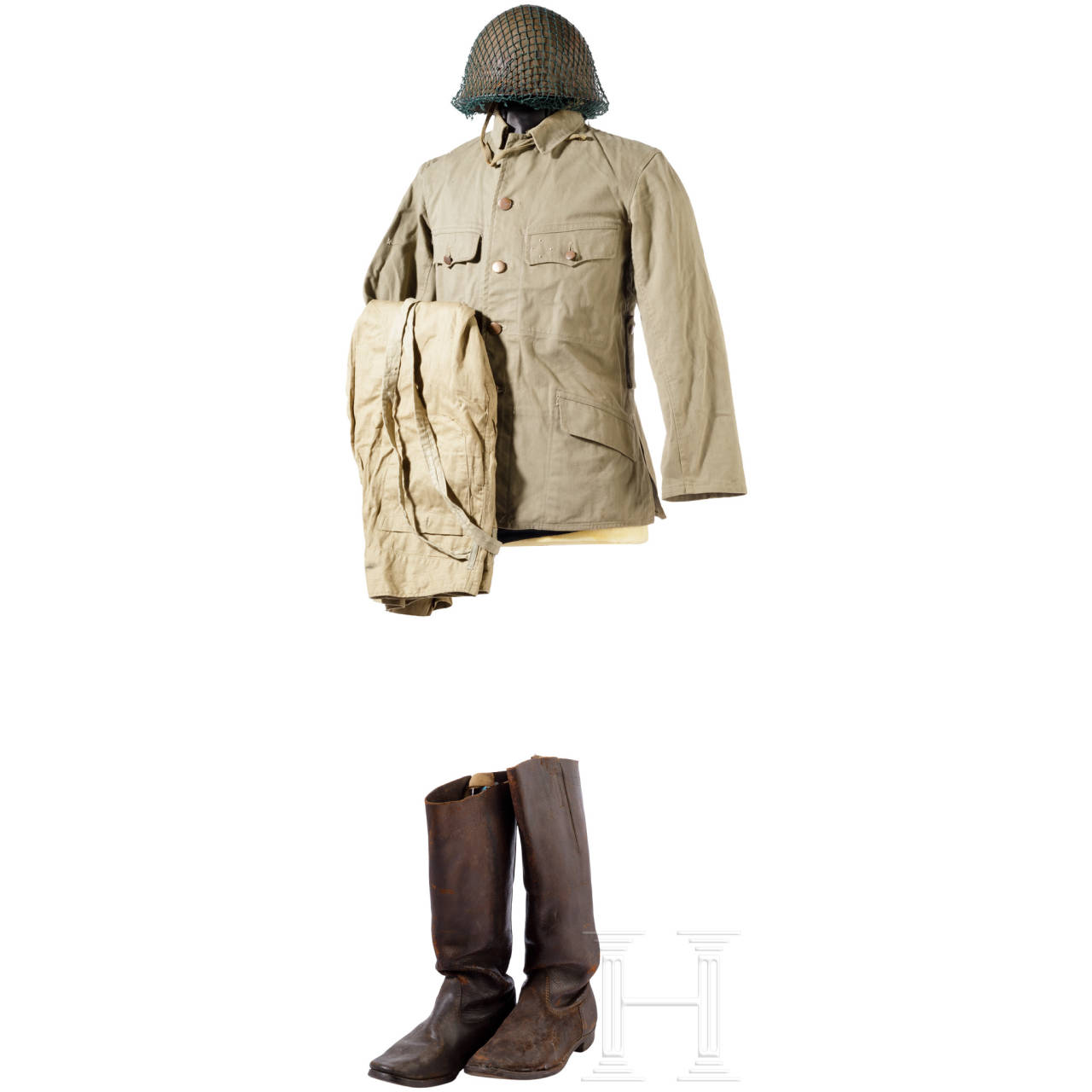 A uniform and equipment ensemble for an infantry soldier in the Pacific War, 1937 – 1945
