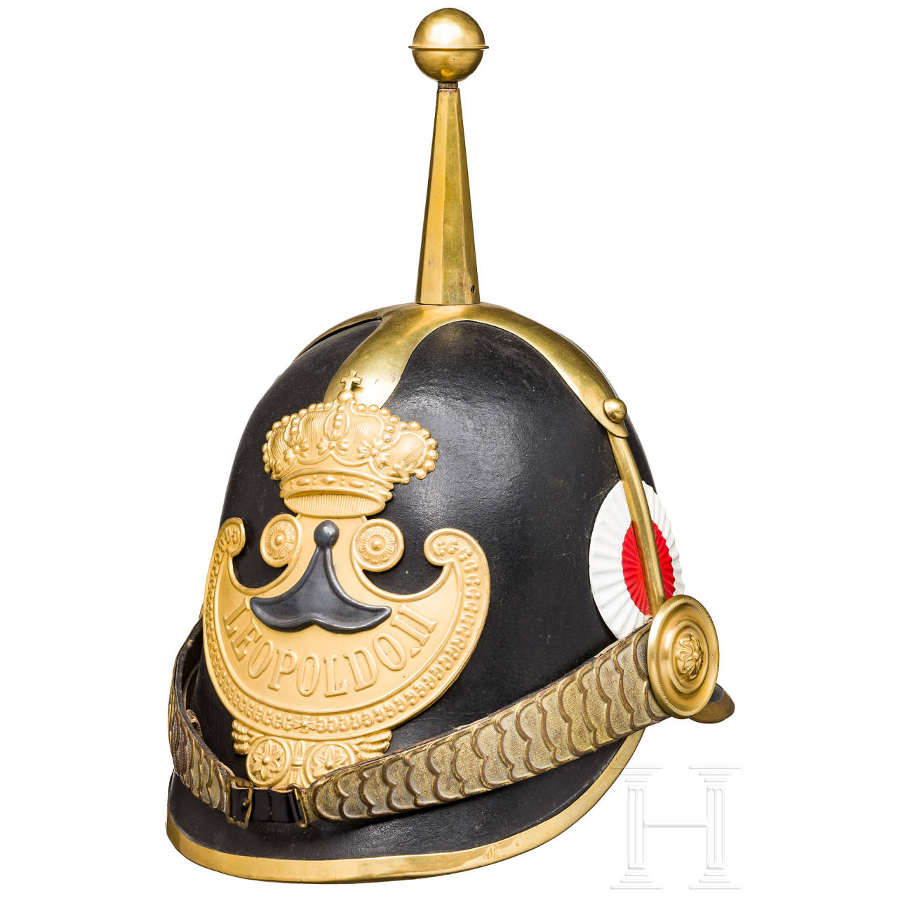 """Helmet of the """"Guardia Civica"""" from the reign of Leopold II, Grand Duke of Tuscany (1824-1859)"""