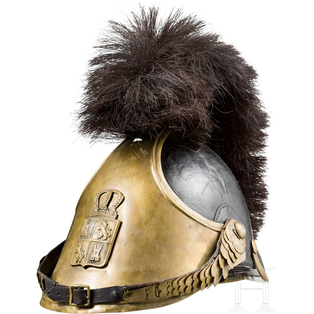 Crest helmet, circa 1860
